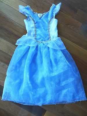 DISNEY STORE Girls 6/6X SMALL Blue CINDERELLA Princess HALLOWEEN COSTUME Dress