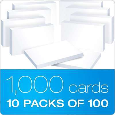 "Office products Oxford Blank Index Cards Office supplies 3"" x 5"", White, 10 Pack"