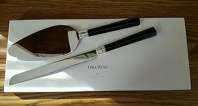2 Pc Vera Wang Wedgwood Metal with Love Noir Cake Knife & Server Set 55080606412