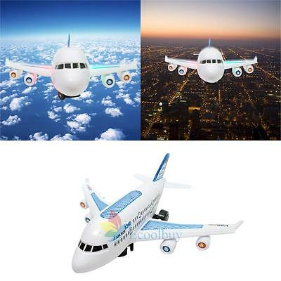 New Electric Air Bus Model Flashing LED Light Kids Musical Airplane Toy Gift A
