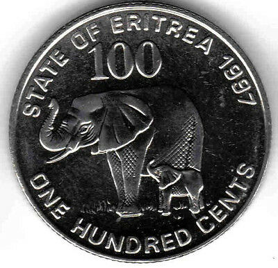 Eritrea: 5 Piece Uncirculated Coin Set, 1 To 100 Cents