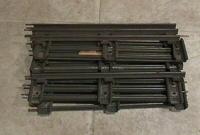 """Lionel """"o"""" Gauge Vintage Straight Track X 8 Pieces,used"""