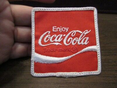 EMBROIDERED Patch - ENJOY COCA-COLA - COKE - DELIVERY DRIVERS UNIFORM PATCH