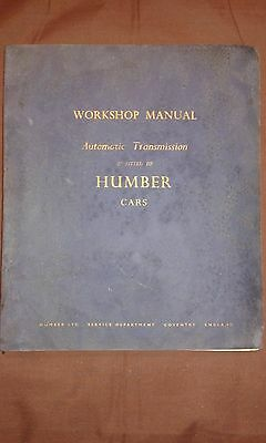 Humber Cars Automatic Transmission Workshop Manual (Super Snipe / Hawk)