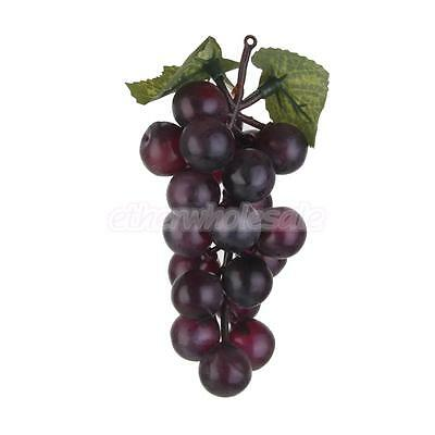 Realistic Fruit plastique Décor Faux raisin artificiel Stade Prop Dark