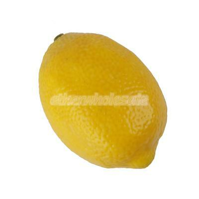 Realistic Fruit plastique Décor Faux citron Artificial Staging Croquis