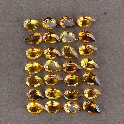 0.60CT CITRINO NATURALE VVS UNHEATED NATURAL HONEY CITRINE 8 mm