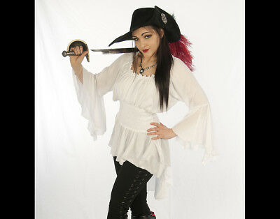 Dress Like A Pirate Unique Romantic Shorter Lady Cutlass Blouse Tunic  Xs-6X