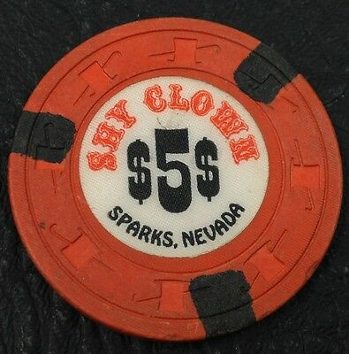 Shy Clown $5 Casino Chip Sparks Nevada H&C Paulson 1976 FREE SHIPPING
