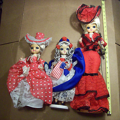 Vintage Bradley 1976 Erica  Korea 3 Doll Lot Junk Drawer