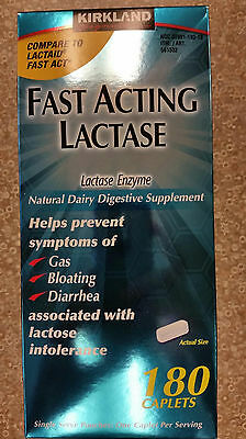 Fast Acting Lactase For Lactose Intolerance 180 Caplets