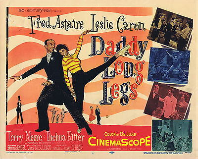 DADDY LONG LEGS Vintage Original Title Lobby Card Fred Astaire Lelsie Caron