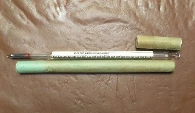 """ANTIQUE FLOATING DAIRY THERMOMETER 1910s-20s-30s Germany Hand-Blown? 9.3"""" Long"""