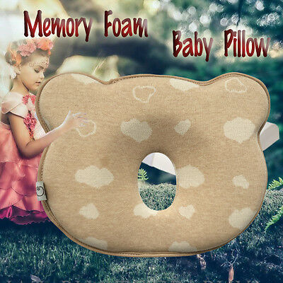 Newborn New Baby Infant Pillow Memory Foam Prevent Flat Head - Anti Roll support