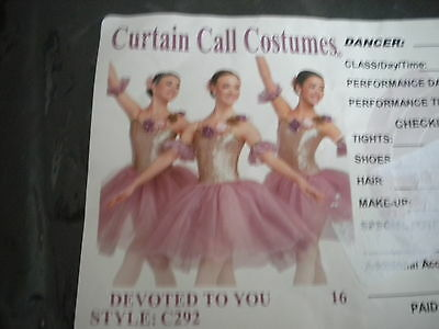 Curtain Call costume ballet pointe Girls lyrical dance competition pageant AS