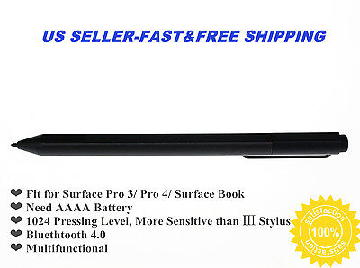 Genuine Black Stylus Pen for Surface Pro 3 Pro 4 Surface Book-Wireless Bluetooth