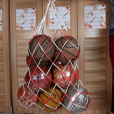 Sports Balls Football Basketball Storage Bag Draw Cord Closure Mesh Carry Net