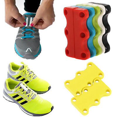 Novelty Sneaker Closure No-Tie Magnetic Casual Lazy Shoelace Shoe Buckles NEW