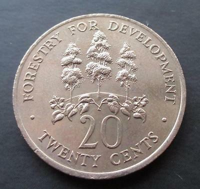 20 Cents Jamaica 1976 Mahoe Trees #2040