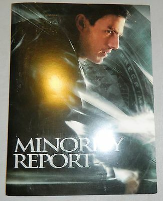 Minority Report Movie Press Book Production Handbook Tom Cruise 20Th Fox