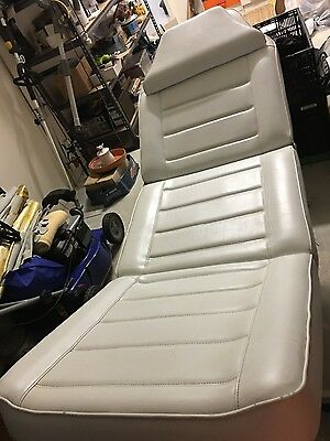 Beautician hydraulic adjustable white faux leather chair