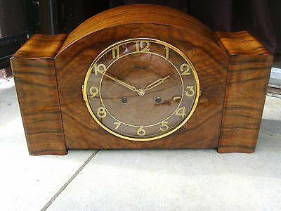 EXTREME RARE KIENZLE ART DECO mantel mantle table CLOCK PERF FUNCT junghans era