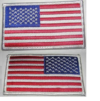 "USA American Flag Patches 3.5""X 2"",US Patch, White Trim,Sew/Iron on,1-1000 /Pack"