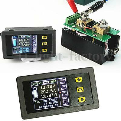 DC 120V 100A Wireless Volt Ammeter Power Meter battery Charge discharge capacity