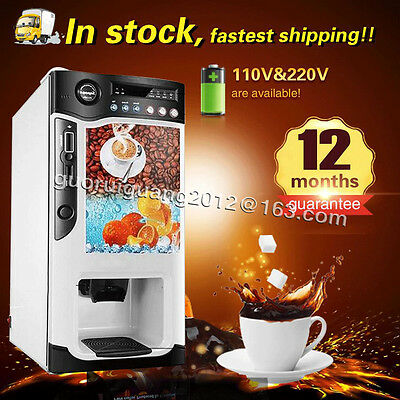 cooling and heating function automatic instant coffee tea milk vending machine