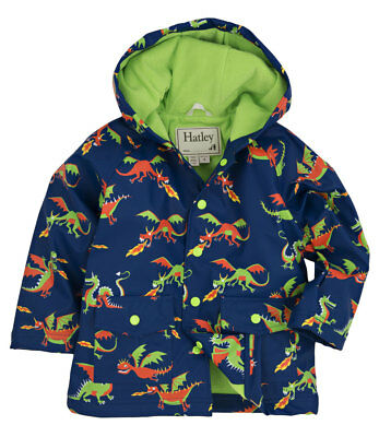NEW Flying Dragons on Blue Kids Childrens Hooded Raincoat By Hatley
