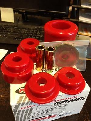 Prothane Rear Diff Differential Mount Bushing Kit For Nissan 350Z & G35 (Red)