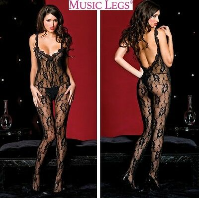 Bodystocking in pizzo Sophia MusicLegs Sexy shop intimo donna lingerie erotic
