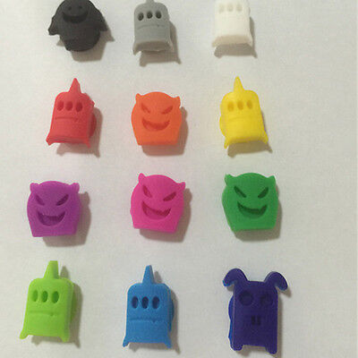 12Cute Smiling Face Suction Cup Wine Glass Recognizer Label Rubber Marker Charms