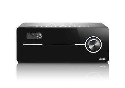 Lenco DR-88 BT BK 2.1 Audiosystem mit Bluetooth 50 W RMS, UKW, DAB+ NG467 C