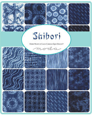 Patchwork/quilting Fabric Moda - Shibori - Charm Squares/packs