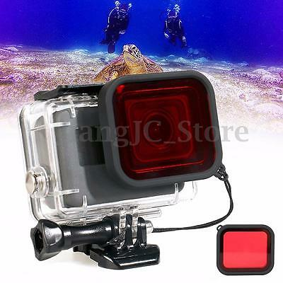 Waterproof Diving Scuba Red Filter Lens & Strap For Gopro Hero 5 Housing Case