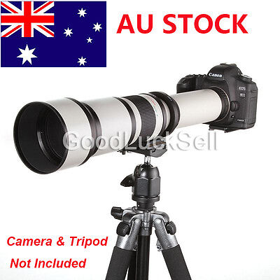 650-1300mm f/8-16 Long Range Telephoto Zoom Lens for Canon EOS DSLR Camera AU!