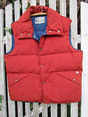 Vintage Mens Penfield Trailwear dark red down puffer ski vest sz L large