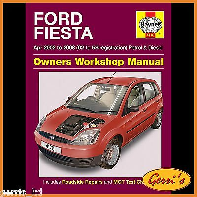 4170 Haynes Ford Fiesta Petrol & Diesel (Apr 2002 - 2008) Service Manual