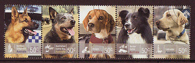 Australia 2008  Dogs Issue In Strip Of 5 Fine Used