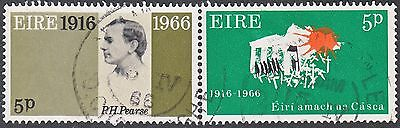 Ireland 1966 3d Se-Tenant Pair 50th Anniversary of Easter Rising Used