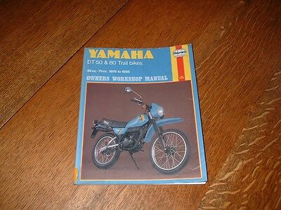 Haynes Manual For Yamaha Dt50 & Dt80. 1978 To 1985. Ex-Library Book.