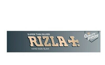 Rizla Silver King Size Slim Rolling Papers rice paper (1/2/5/10/20/50)pcs