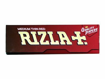 Rizla Red Rolling papers Standard size for normal burning (2/5/10/20/50/100)pcs