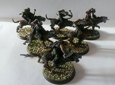 games workshop  Lord of the rings metal sharku and warg riders
