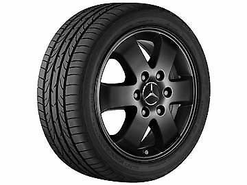"Genuine Mercedes Sprinter Alloy Wheel Set - 6 Spoke,  Black, ""16 Inch"" x4 Wheels"