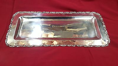 Sterling Silver Serving Tray Rectangular Ornate .925