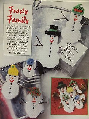 Frosty Family Ornaments  Pattern(s) in Plastic Canvas