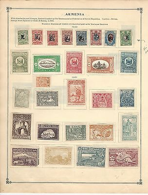 Armenia Collection on Scott International Pages, 1920-1921