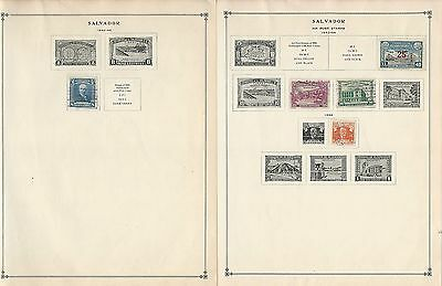 Salvador Collection on Scott International Pages, 1942-1963, 15 Pages